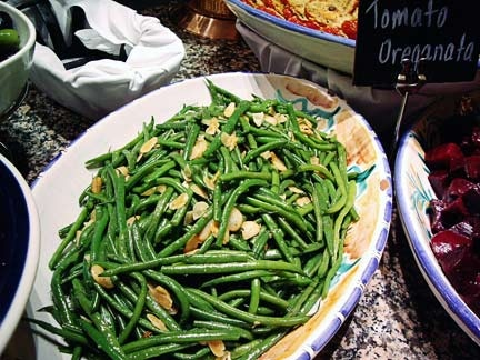 Green Beans with Anchovies and Almonds
