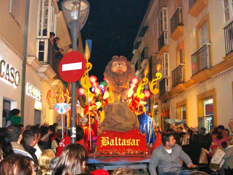 A Reyes Magos parade in El Puerto de Santa Maria.