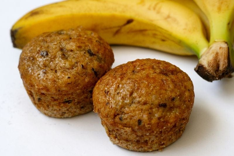 Banana Chocolate Wheat Bran Muffins