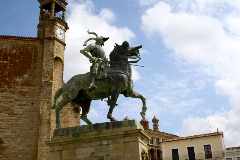 Pizarro Horse Statue Trujillo