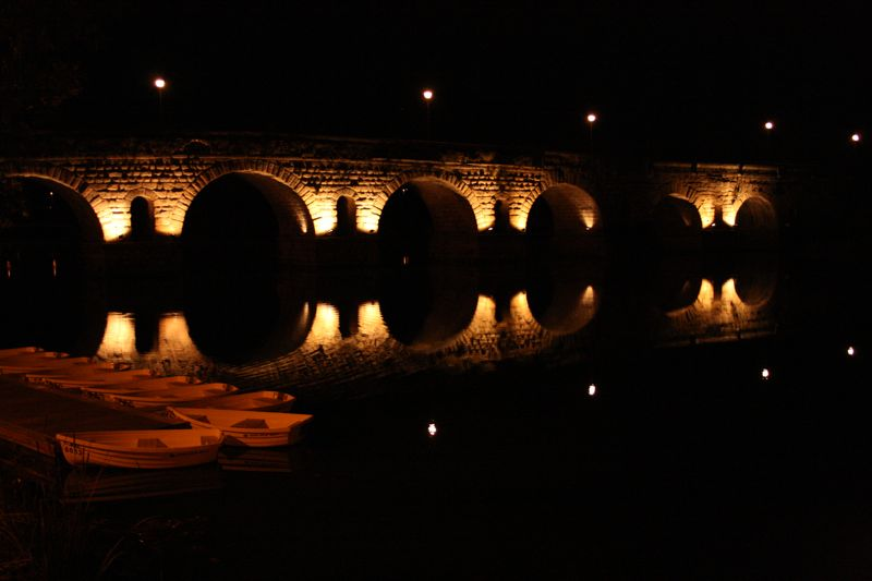 Puente Romano Illuminated
