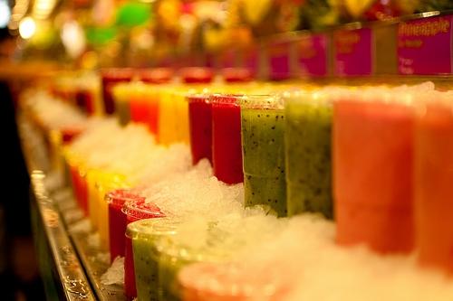 Barcelona Boqueria Fruit Juice