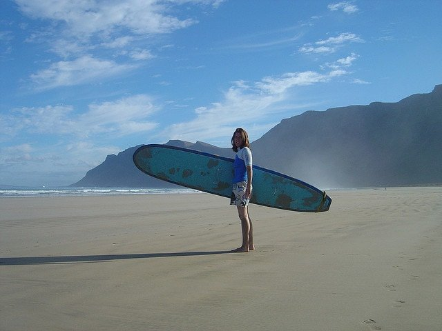 Surfer in Lanzarote