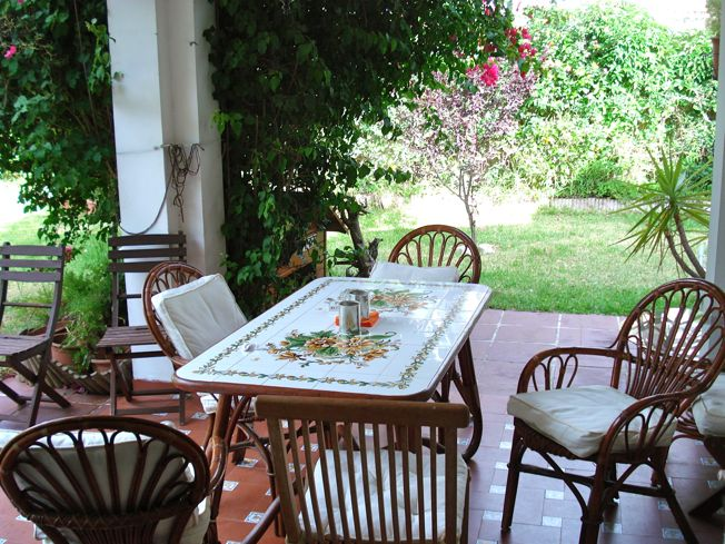 Summer patio Spain rental
