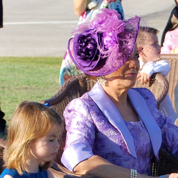 Purple Wedding Hat