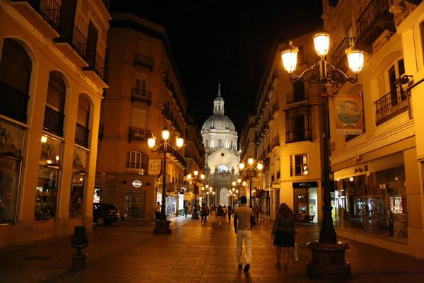 Zaragoza at night