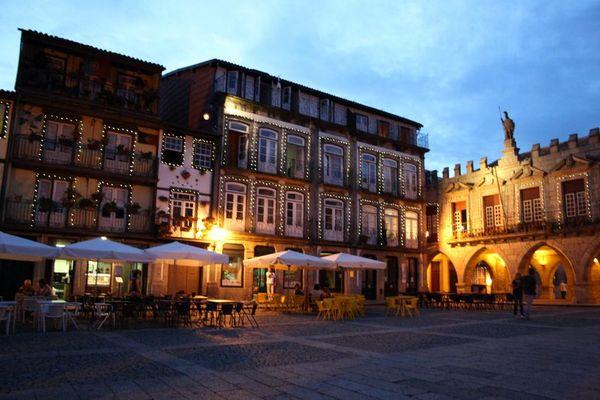 Guimarães, Portugal at night.