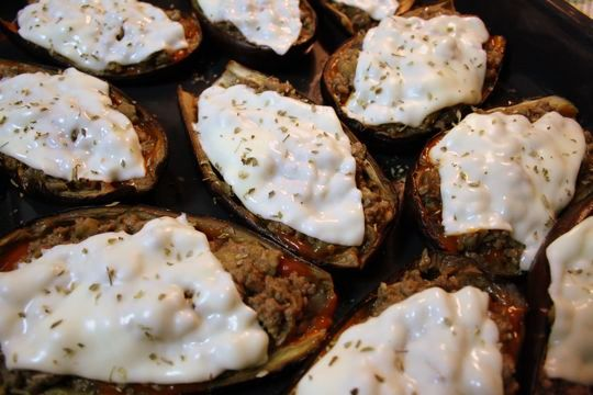stuffed eggplant with cheese