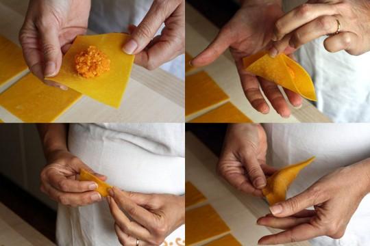 Form the tortelloni