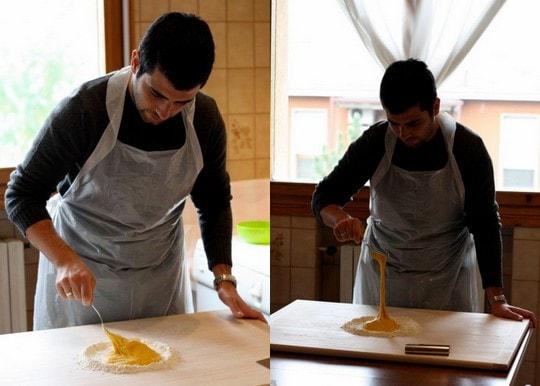Ale makes pasta