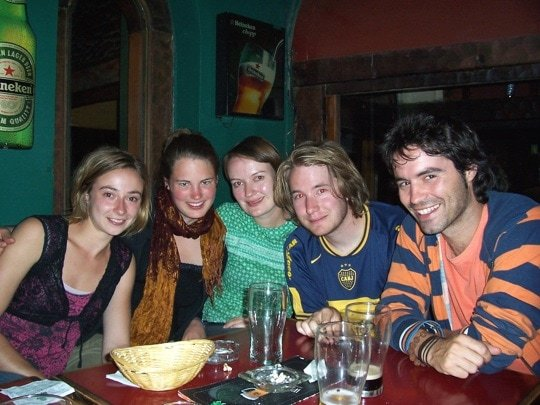 Group of friends at a restaurant