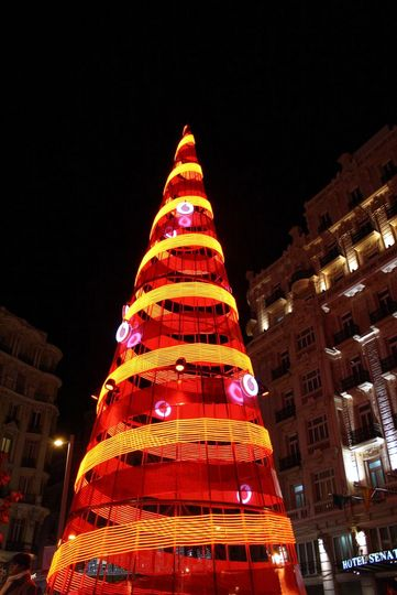 Vodafone Christmas tree Madrid