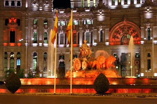 Cibeles fountain Madrid Christmas