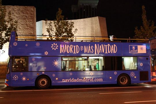 Madrid Christmas Lights Bus