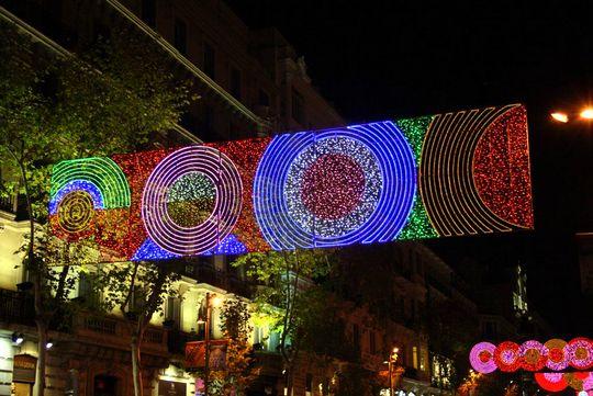Barrio Salamanca luces de navidad