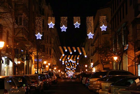 Barrio de Salamanca estrellas navidad