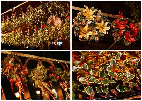 Christmas wreaths Plaza Mayor Madrid