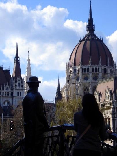 Budapest Man on Bridge