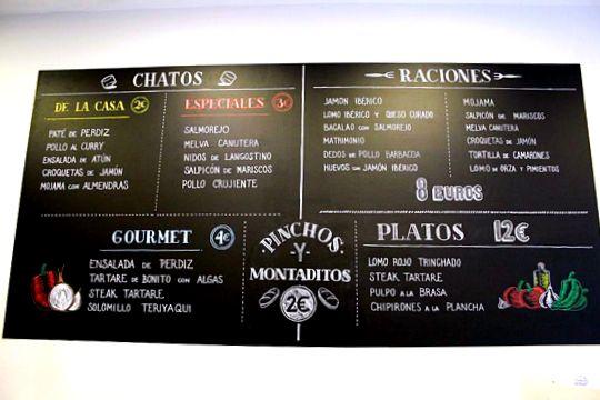 Taberna del Chato Menu