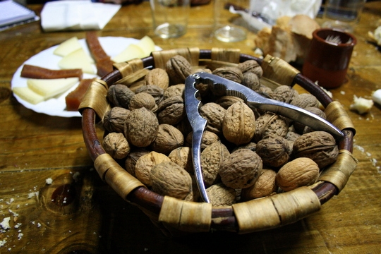 Walnuts at the cider house