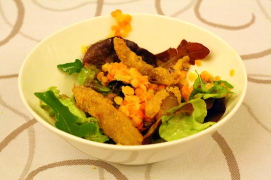 Pig tail salad at Maskarada