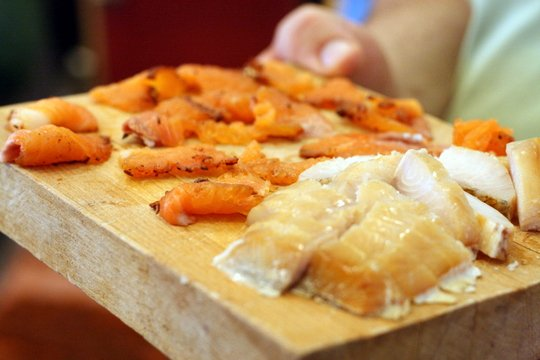 Cured fish on Foodie Adventure Company Food Tour