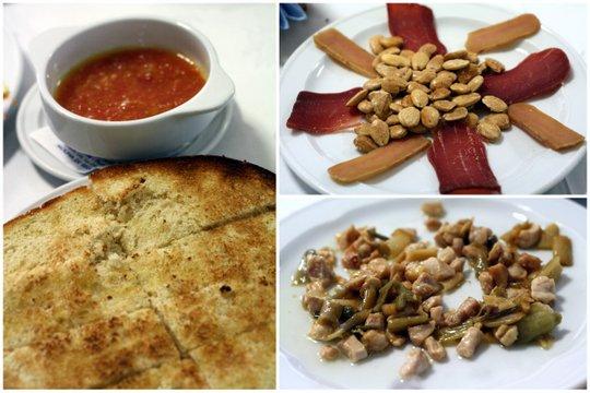Mojama, pan con tomate