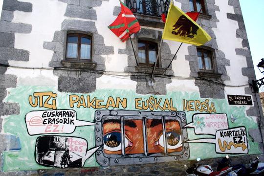 Political graffiti in Leitza