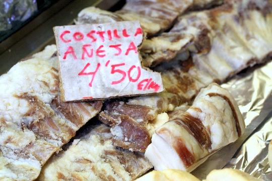 Dried ribs Malaga market