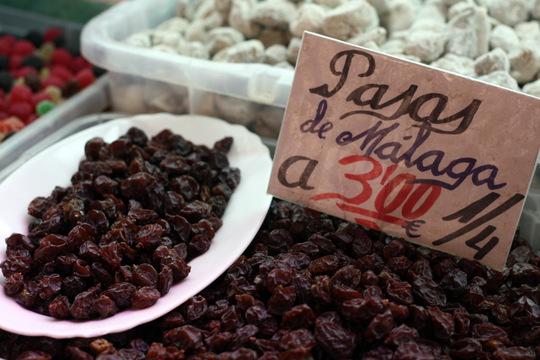 Malaga central Market on a market tour in Malaga.