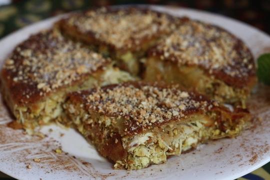 Pastela, food in Granada