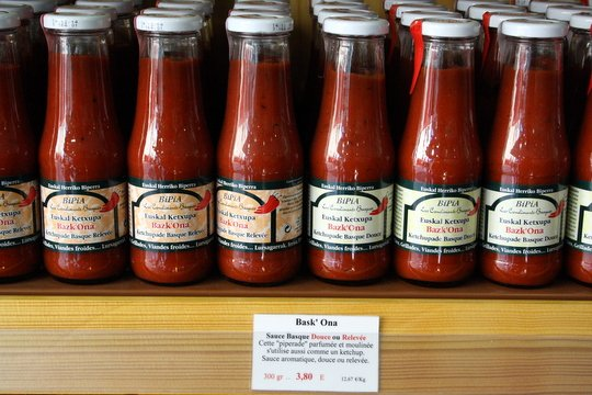 Basque pepper sauce in Saint Jean de Luz