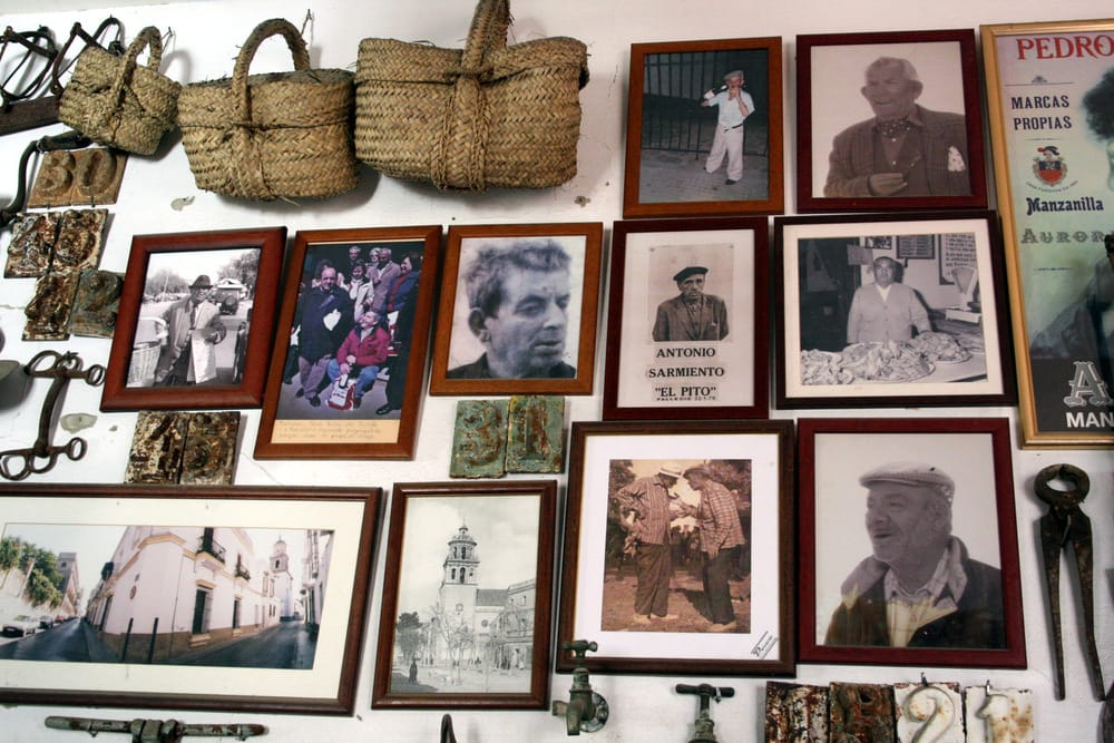 pictures on the wall in Sanlucar