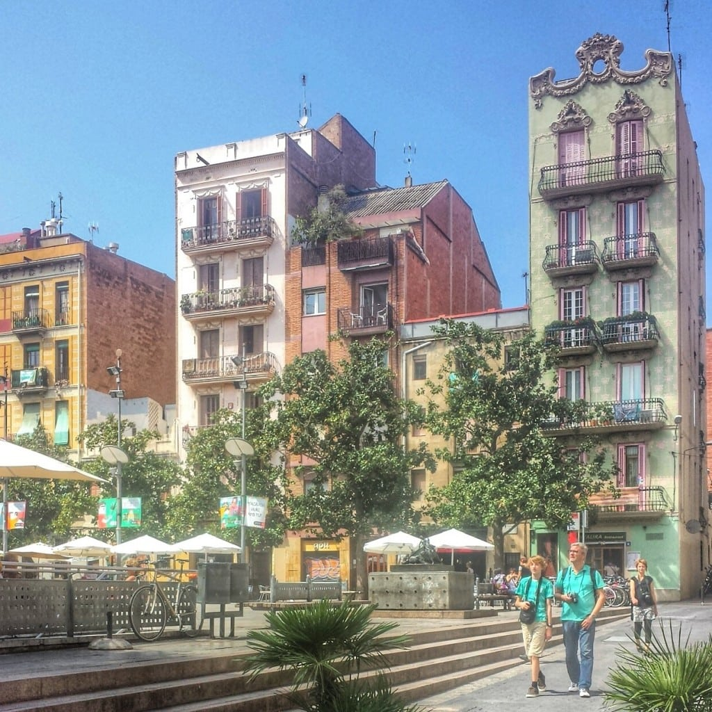 Walking is a main source of exercise for many people in Spain. And with neighborhoods as adorable as this (the Gracia neighborhood  in Barcelona) going for a stroll sounds quite nice!