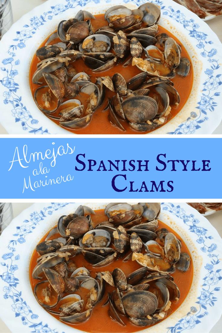 Spanish Style almejas a la marinera (spanish style clams)