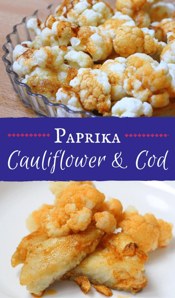 Smokey Spanish paprika gives this healthy cod and cauliflower recipe a decidedly Spanish kick!