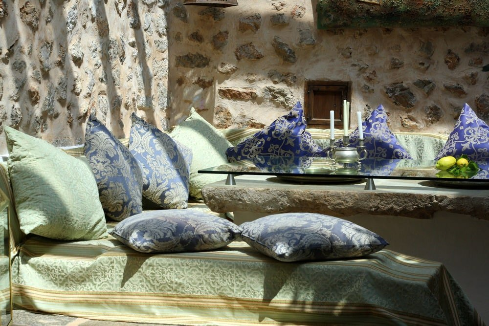 Beautiful chill out space at Cas Xorc boutique hotel in Mallorca.