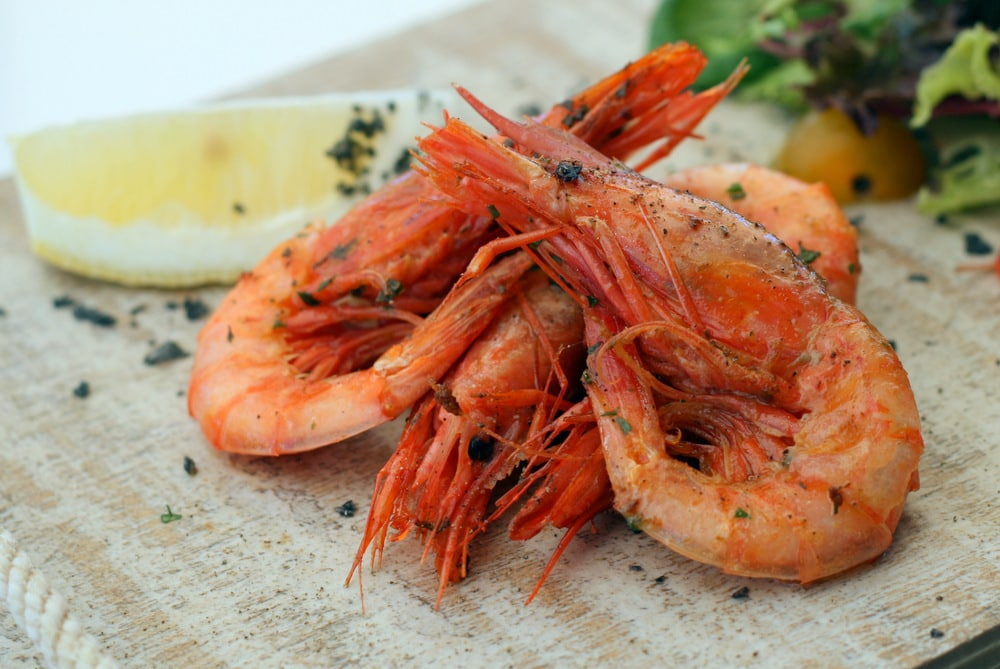 Red prawns from soller