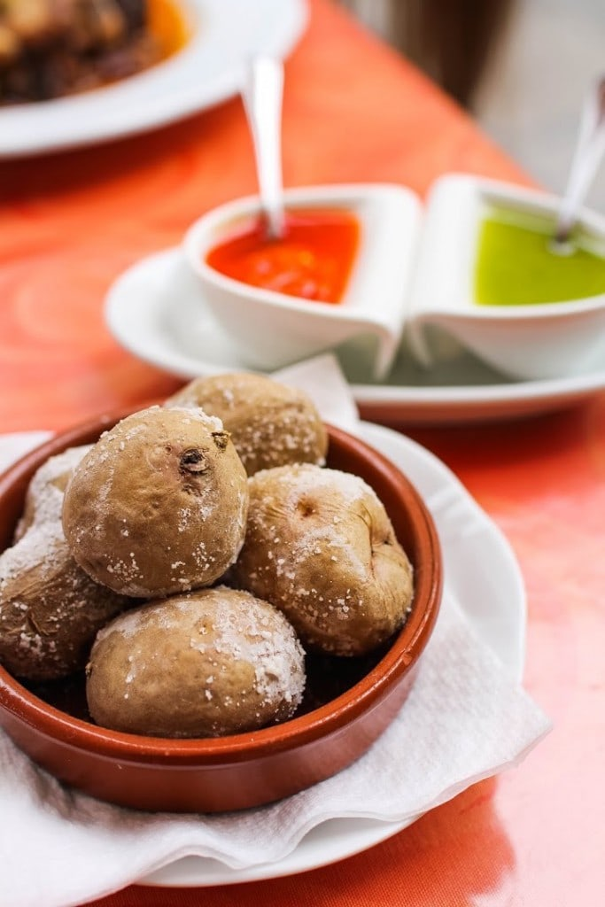Papas arrugas are one of the best uses of salt in Spain!