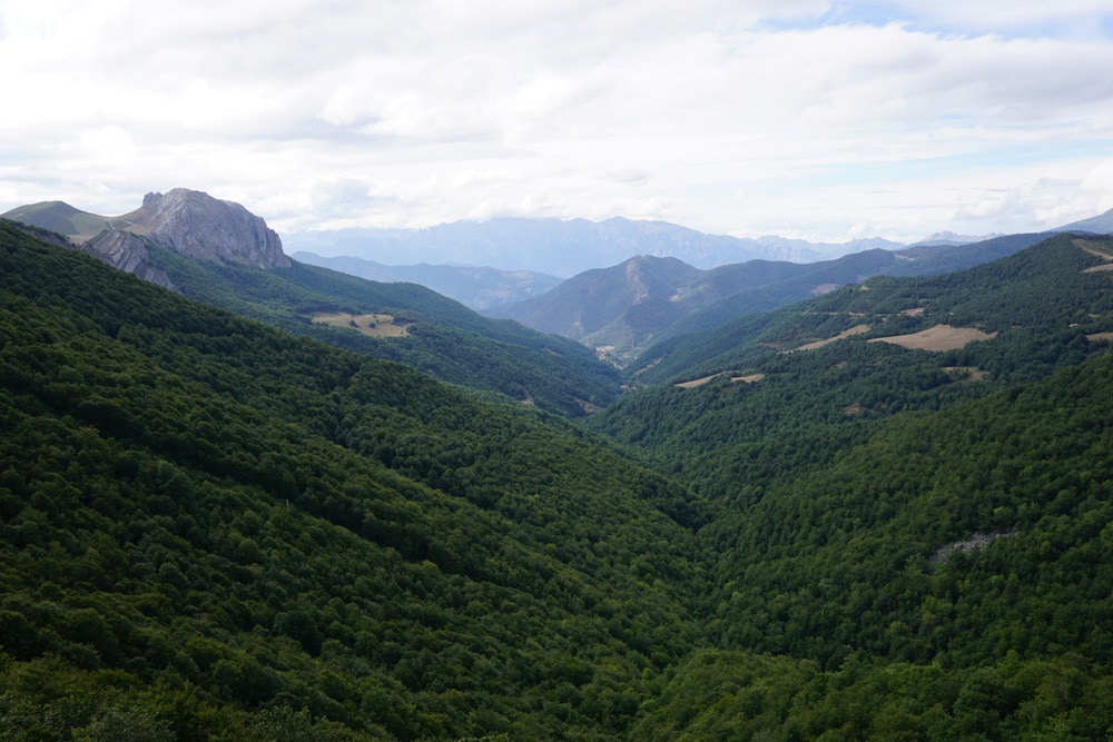 A beautiful view of the picos de Europa on our Asturias road trip.