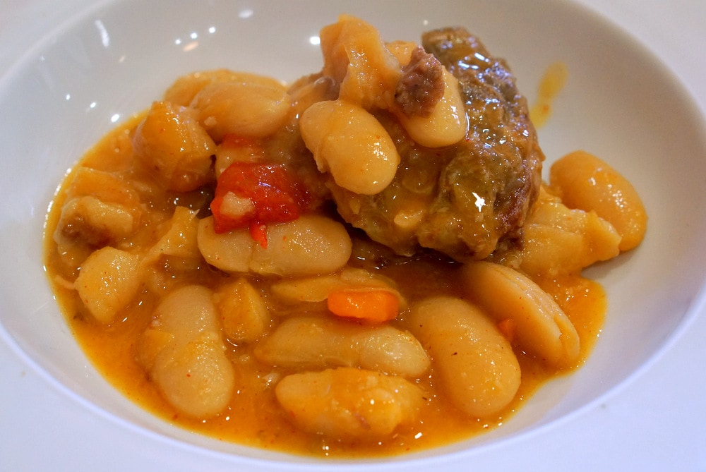 Beans with stewed goat is a typical stew in Asturias.