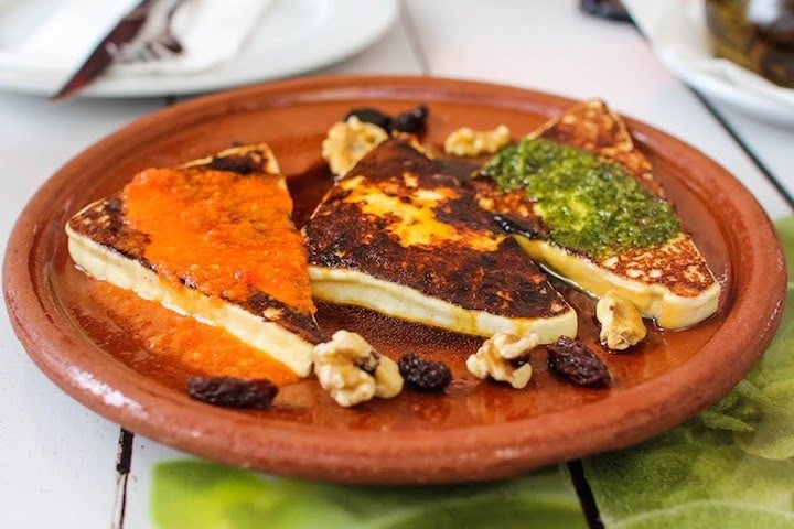 Grilled cheese is a specialty of the Canary Islands and one of the most delicious things to eat on Gran Canaria.