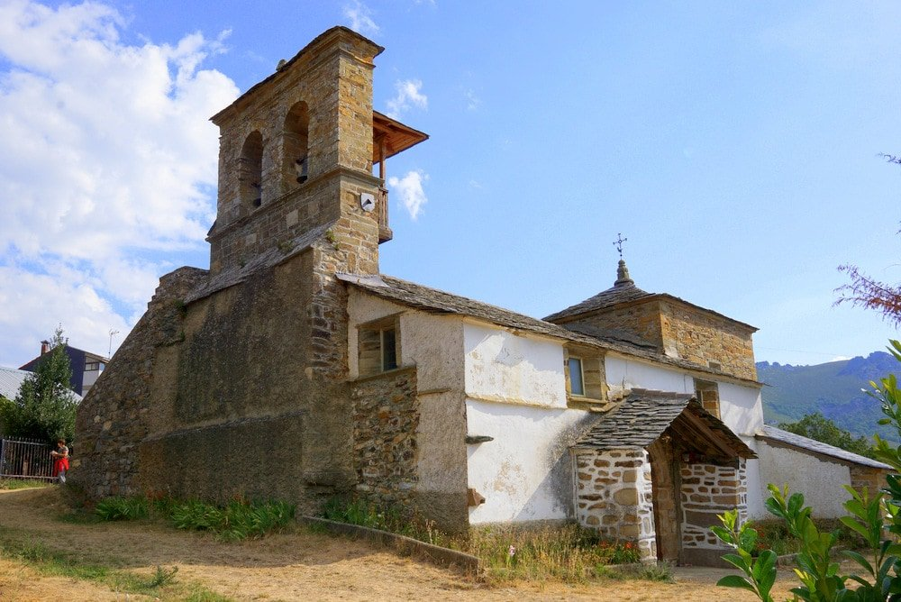 Pozos village church in Spain