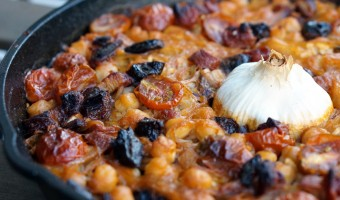 Baked Rice with Garbanzos and Dates