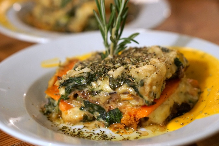 vegetable lasagna in Spain