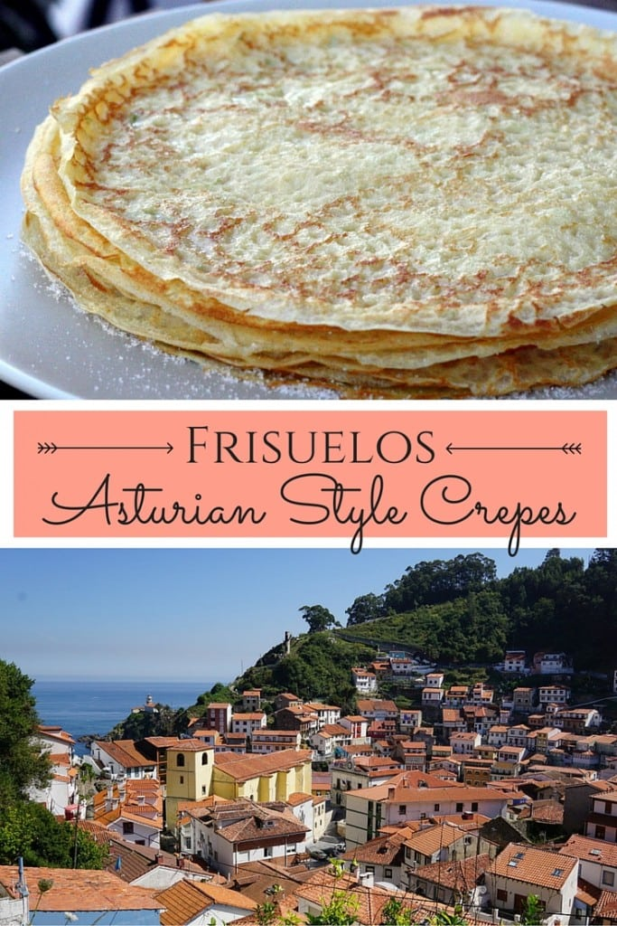 These ultra tasty Asturian style crepes from Northern Spain are simple and delicious! Fill them with pastry creme, as is tradition, or slap on some chocolate!