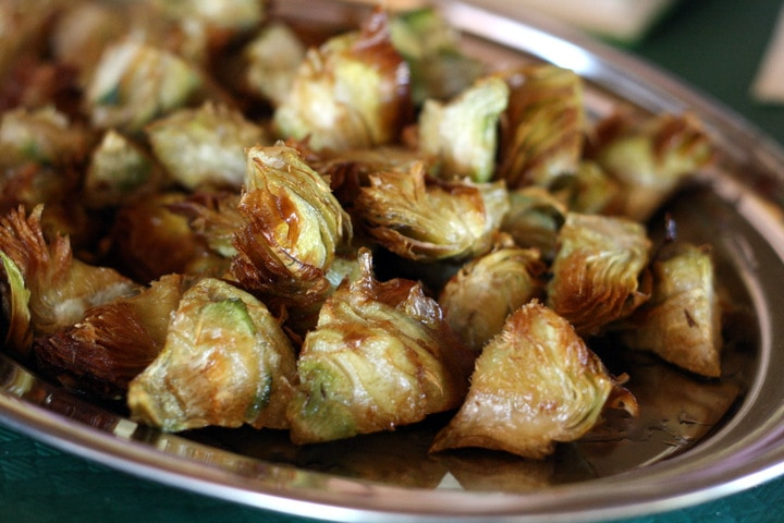 Crispy fried artichokes