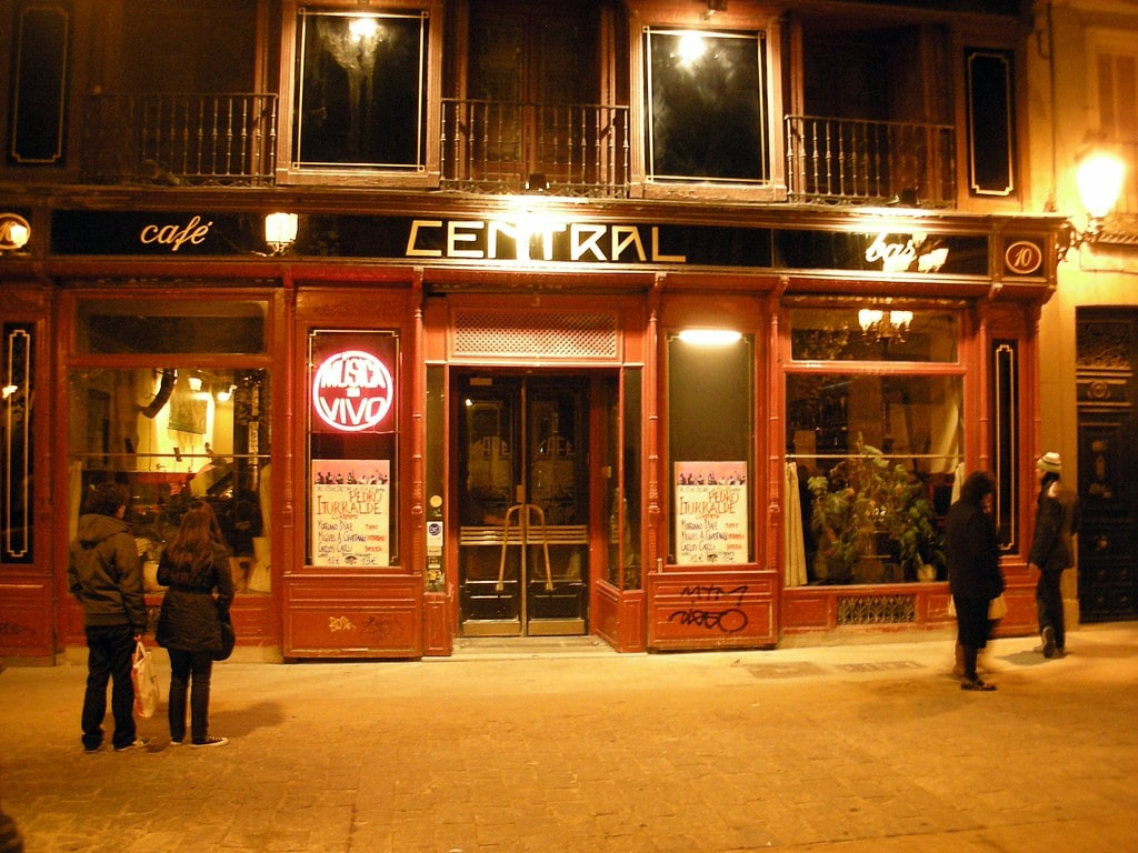Cafe Central, a jazz cafe in central Madrid is one of our picks for the most romantic restaurants in Spain.