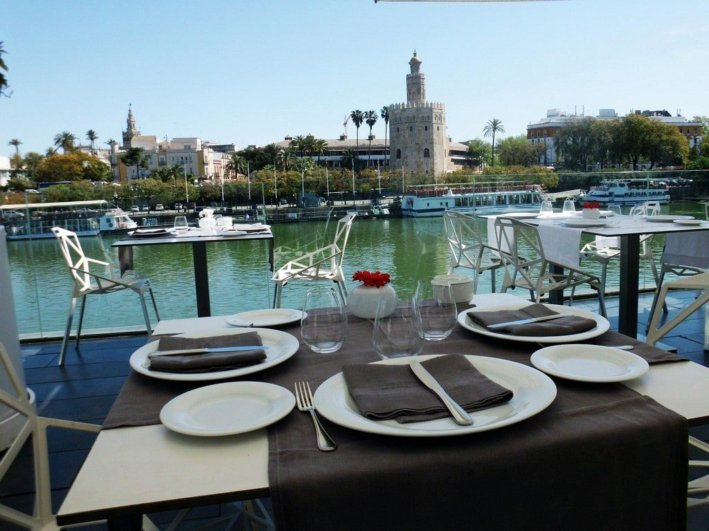 Abades Triana in Seville is one of the most romantic restaurants in Spain