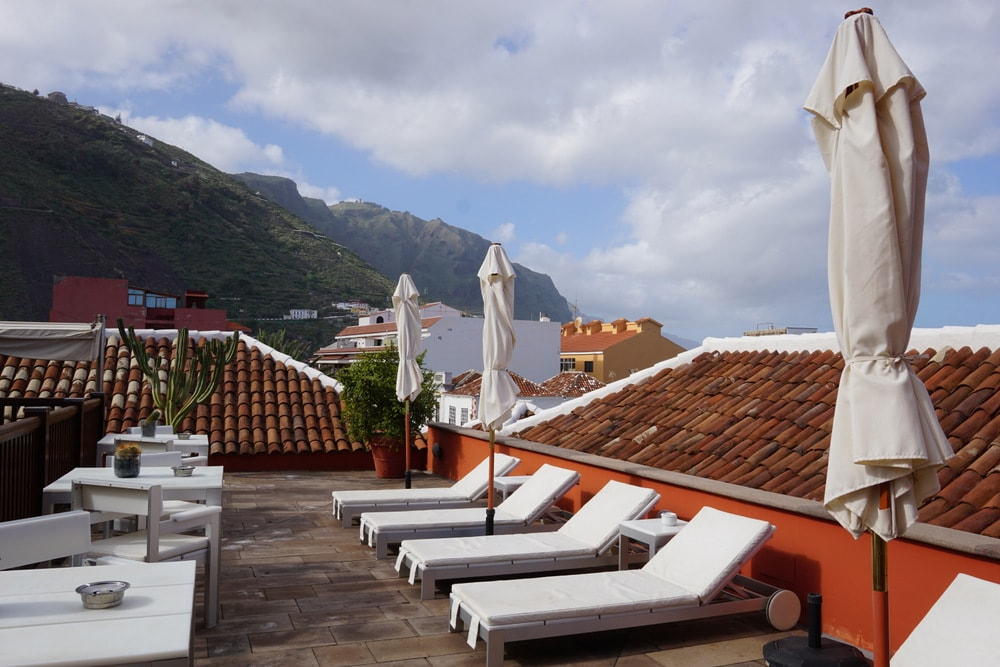 Rooftop terrace at Tenerife Hotel San Roque.